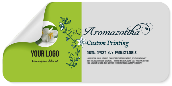 Sticker Label Sized for 1/3 to 1/2 Ounce Bottle/Jar- 1.2 x 2.95 inches. Custom Printed