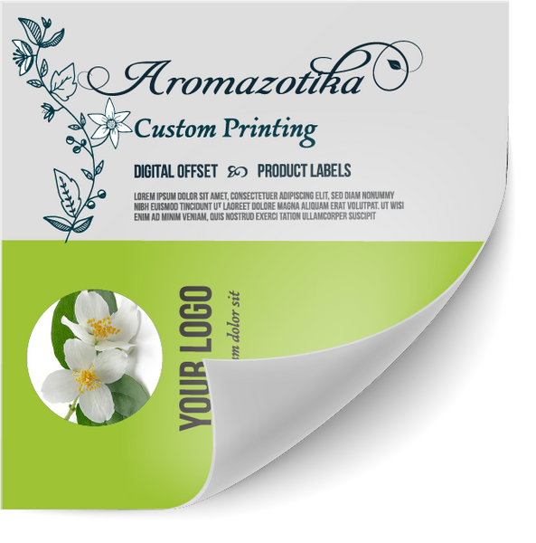 Custom Sized Sticker Label - Choose Your Own Size from 1/2 to 17 inches. Custom Printed