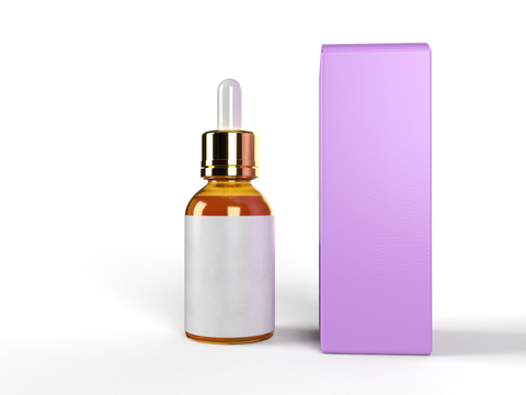 BOX for Dropper Bottle 100ml/3.38Oz - REVERSE TUCK END BOX 2x2x5.75 in-Packaging Boxes Custom-Gogo Packaging-Folding Carton Custom Printed Box-Product-CBD-Essential Oils-Cosmetics-lipstick-supplements