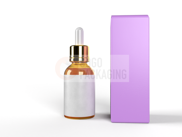 BOX for Dropper Bottle 5ml - REVERSE TUCK END BOX 1x1x3.4 in