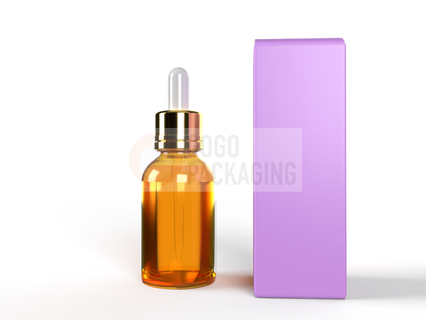 BOX for Dropper Bottle 30ml/1Oz - REVERSE TUCK END BOX 1.5x1.5x4.5 in-Packaging Boxes Custom-Gogo Packaging-Folding Carton Custom Printed Box-Product-CBD-Essential Oils-Cosmetics-lipstick-supplements
