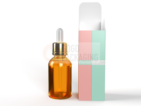 BOX for Dropper Bottle 15ml - REVERSE TUCK END BOX 1.3x1.3x4.0 in-Packaging Boxes Custom-Gogo Packaging-Folding Carton Custom Printed Box-Product-CBD-Essential Oils-Cosmetics-lipstick-supplements