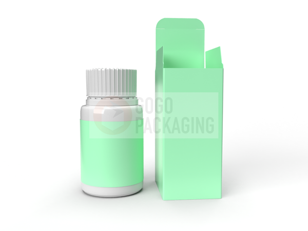 BOX for Supplement Pills Bottle 6.75 Oz/200ml - REVERSE TUCK END BOX 2.3x2.3x4.5 in-Packaging Boxes Custom-Gogo Packaging-Folding Carton Custom Printed Box-Product-CBD-Essential Oils-Cosmetics-lipstick-supplements