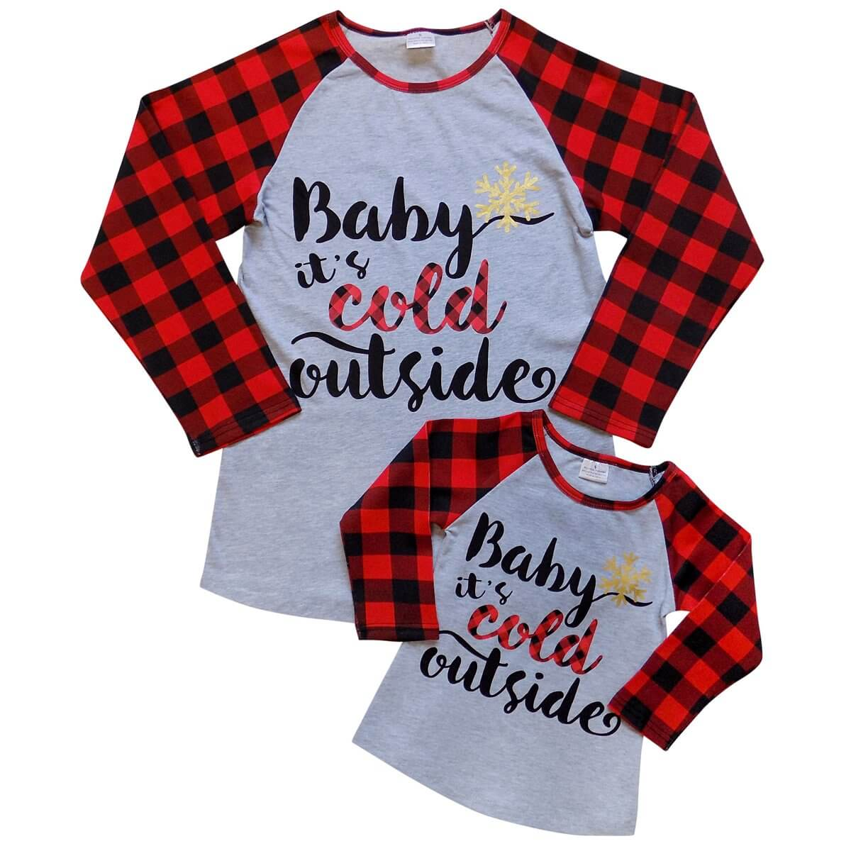 baby its cold outside mommy and me t-shirts