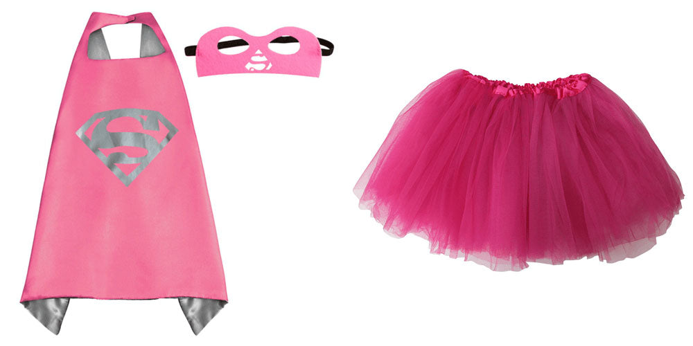 super girl tutu costume with cape and mask