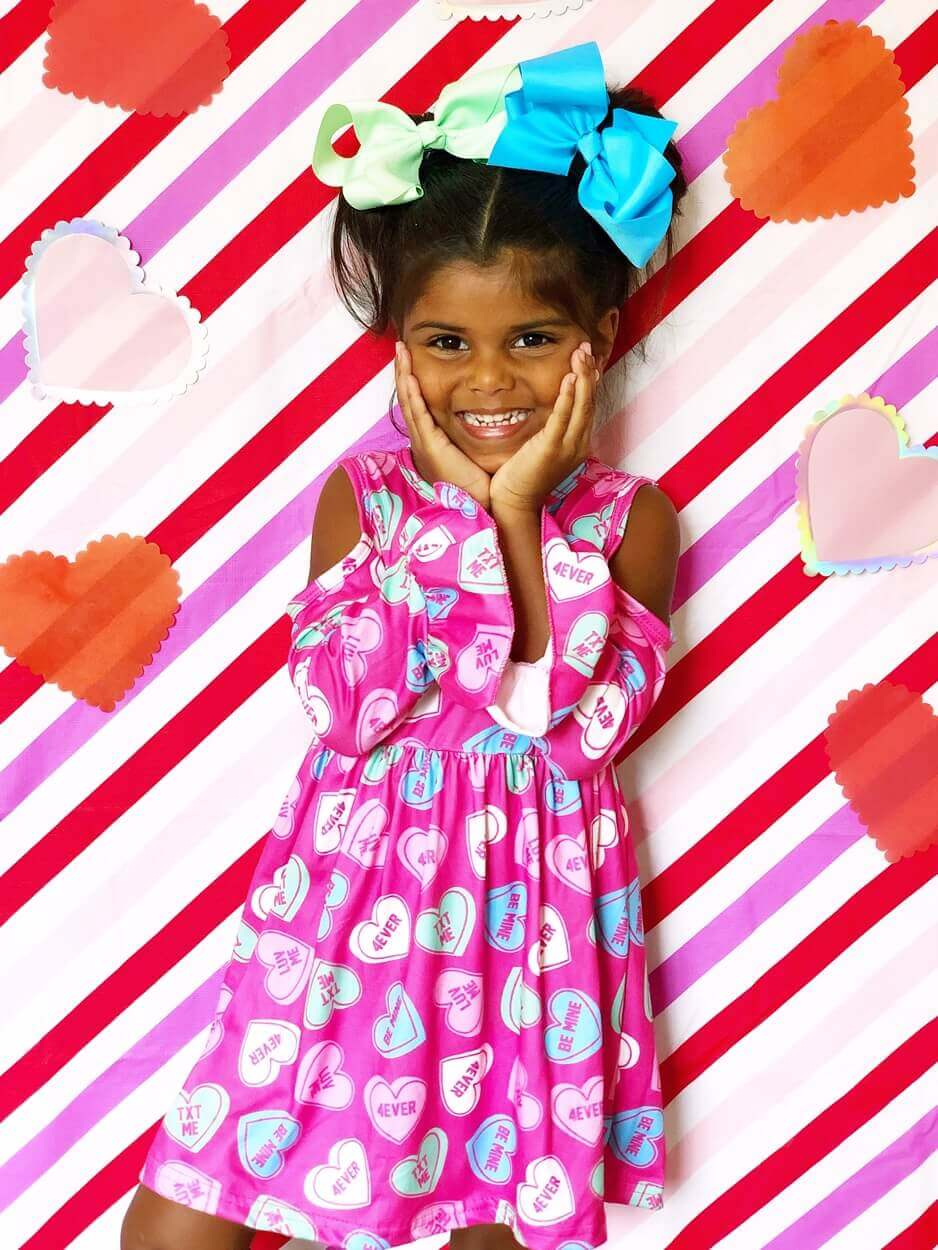 BR in Candy Heart Cold Shoulder Dress