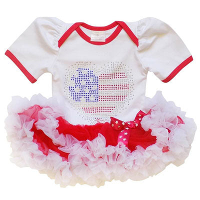 A patriotic tutu dress for infants