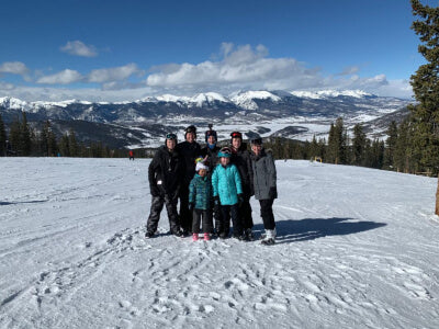Skiing in Colorado with Family