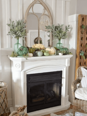 White fall mantels decorations