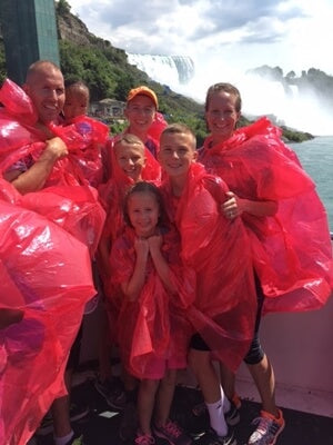 Niagara Falls Hornblower boat ride in Canada kids kids