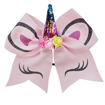 Large Pink Unicorn Hair Bow