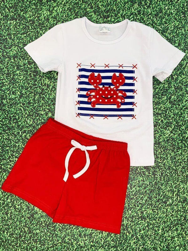 a shirt and short set for boys
