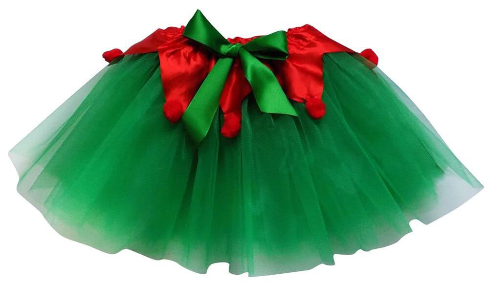 a green and red Christmas tutu