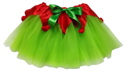 lime green Christmas elf tutu