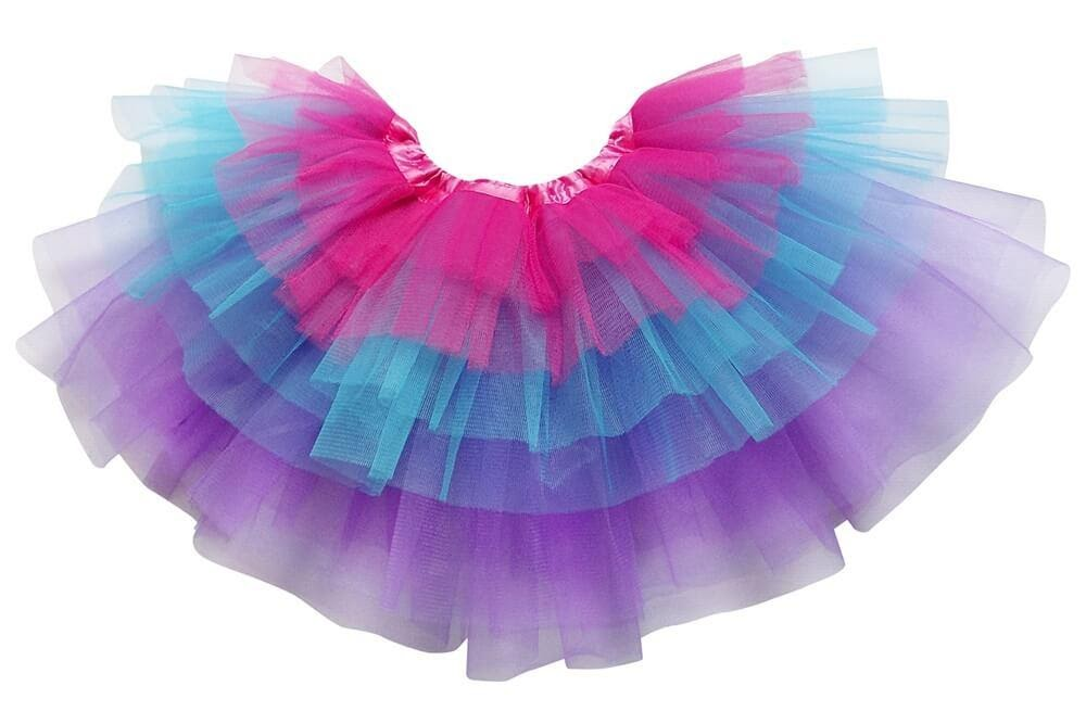 a multi-layered rainbow tutu