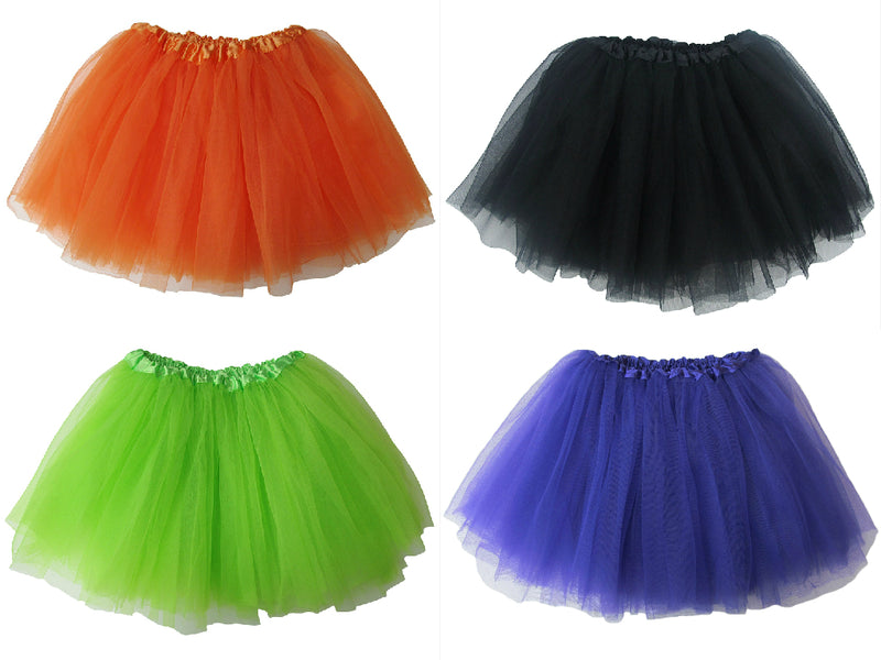 Spooky Halloween - Kids Ballet Tutu Value Multi 4-Pack