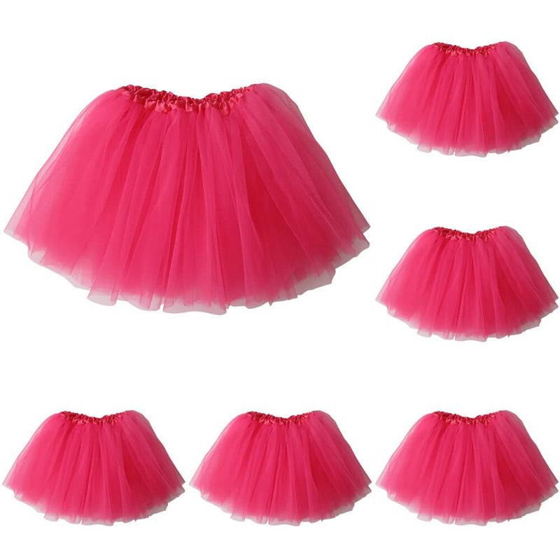 Neon Pink - Kids Ballet Tutu Value 5-Pack