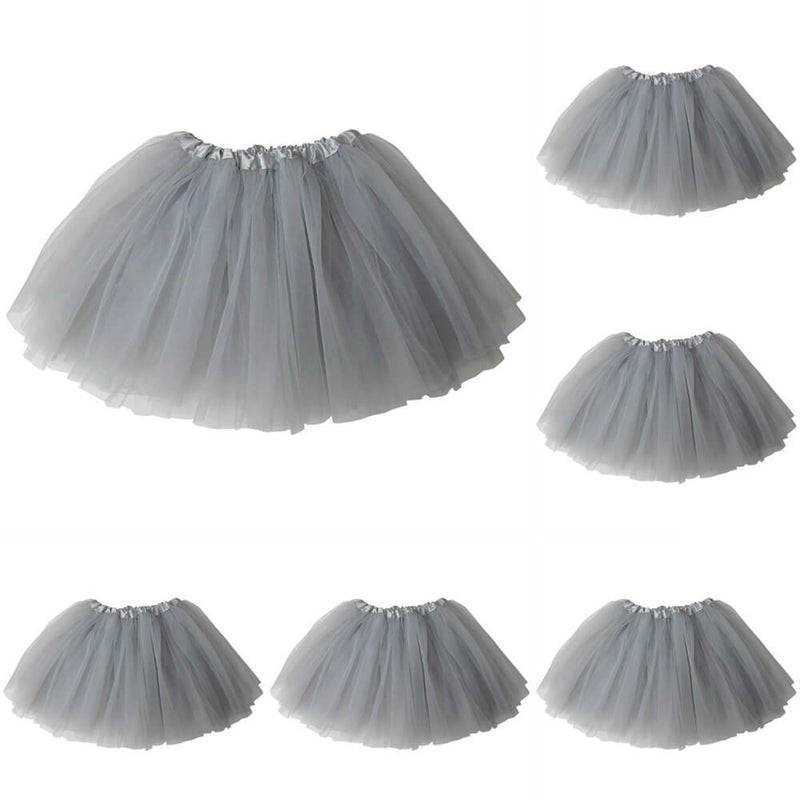 Silver - Kids Ballet Tutu Value 5-Pack