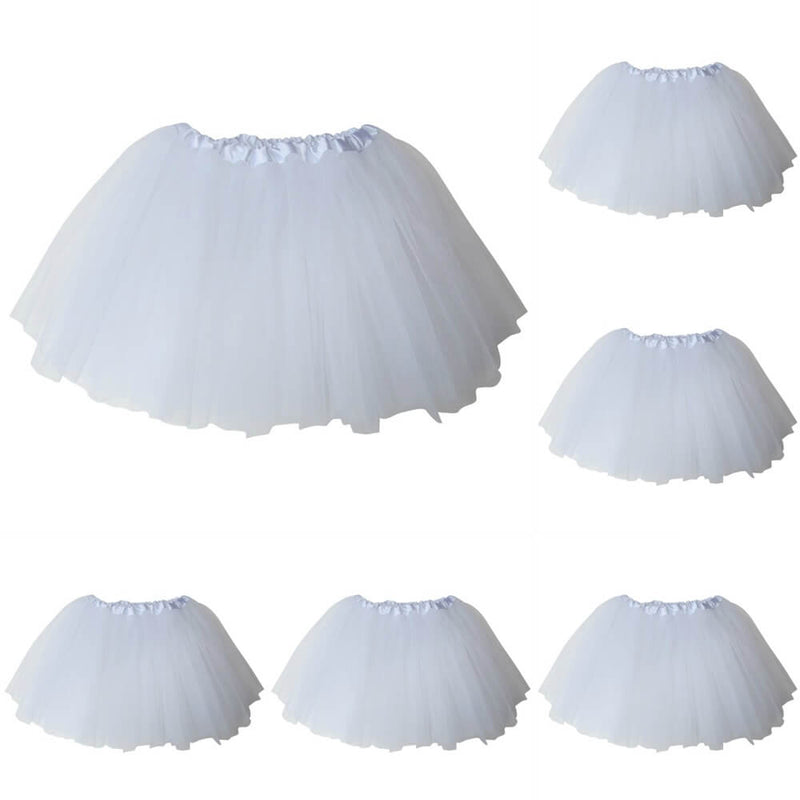 White - Kids Ballet Tutu Value 5-Pack - buy online, free shipping, Sydney So Sweet