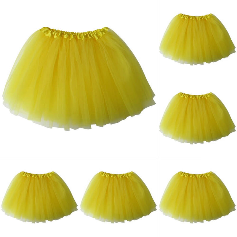 Yellow - Kids Ballet Tutu Value 5-Pack