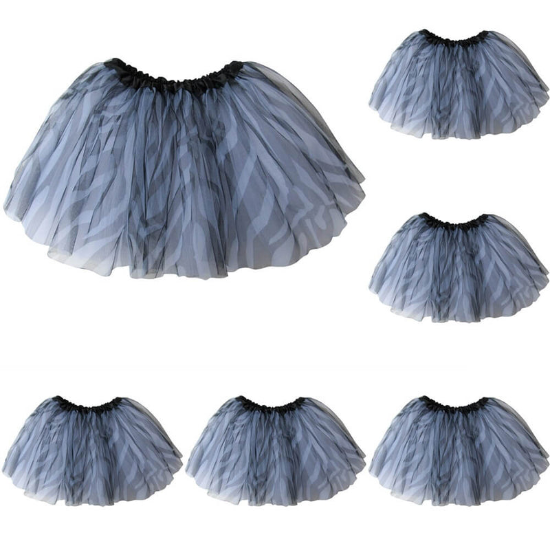 Zebra - Kids Ballet Tutu Value 5-Pack