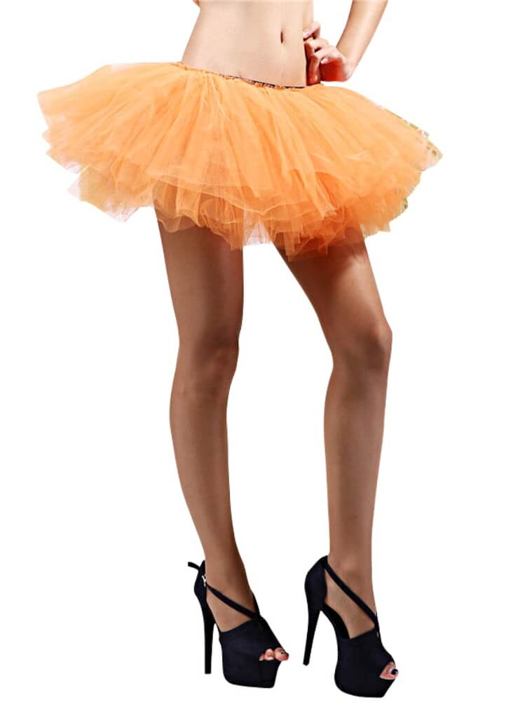 Orange- 5 Layer Running Skirt - buy online, free shipping, Sydney So Sweet