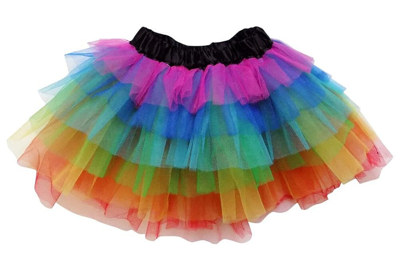 Rainbow - 6 Layer Tutu Skirt for Girls, Women, Plus - buy online, free shipping, Sydney So Sweet
