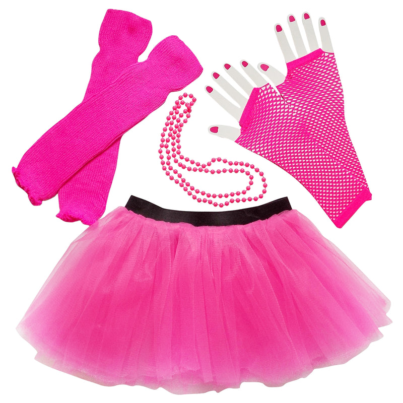 Neon Hot Pink 80's Costume & Accessories