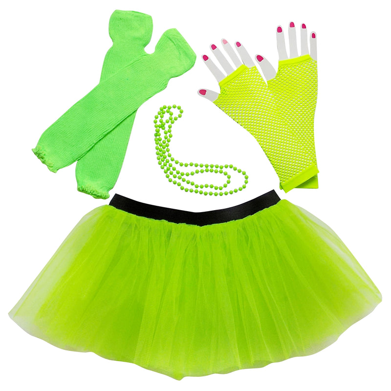 Neon Lime Green 80's Costume & Accessories