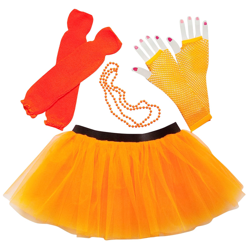Neon Orange 80's Costume & Accessories - Adult - buy online, free shipping, Sydney So Sweet