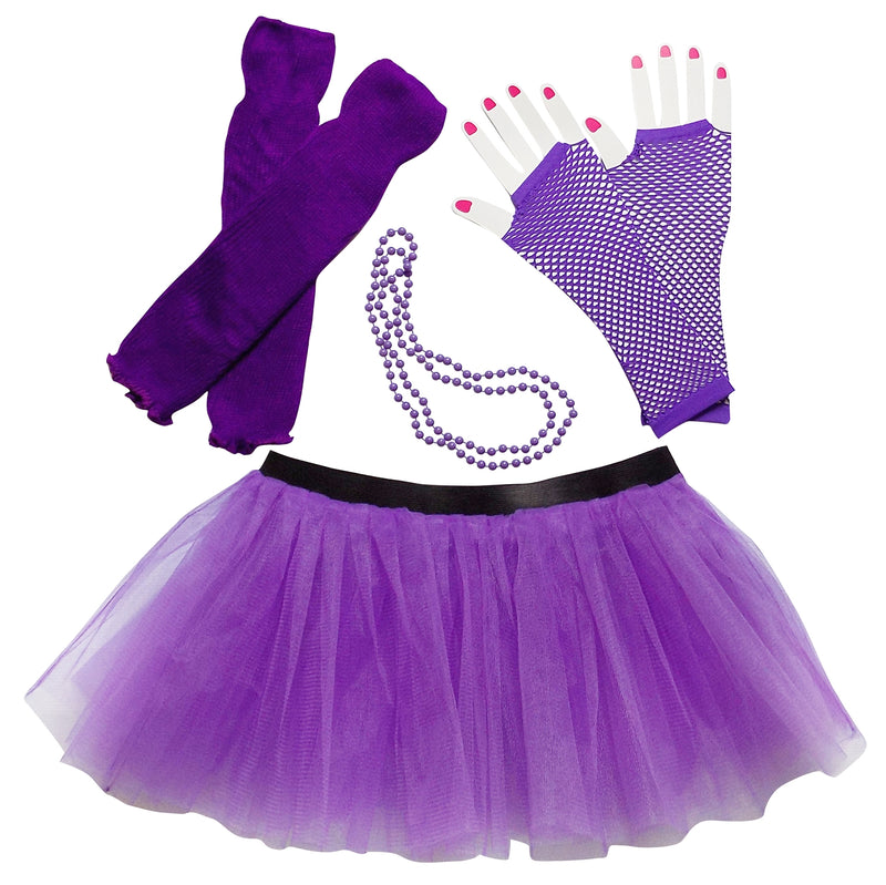 Neon Purple 80's Costume & Accessories