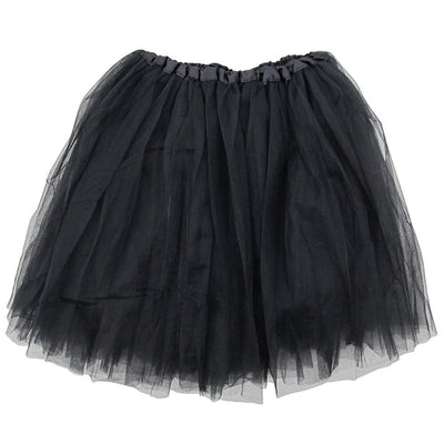 Black- Plus/Extra Plus Size Adult Size 3-Layer Basic Ballet Tutu - Sydney So Sweet
