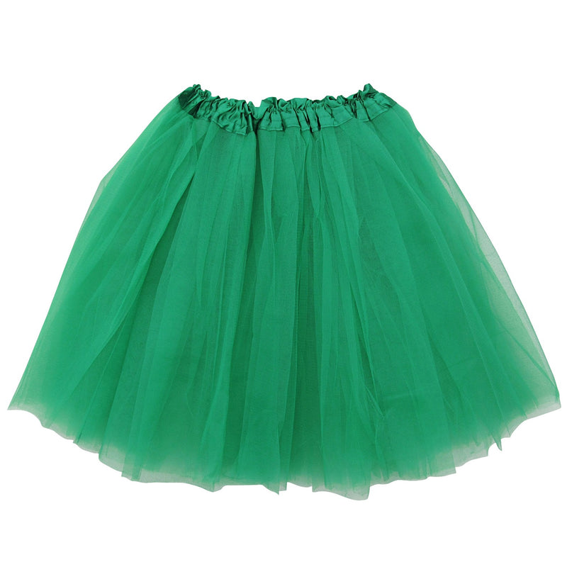 Green - Plus/Extra Plus Size Adult Size 3-Layer Basic Ballet Tutu - Sydney So Sweet Children's Boutique Cute Clothes for Girls & Baby Boutique