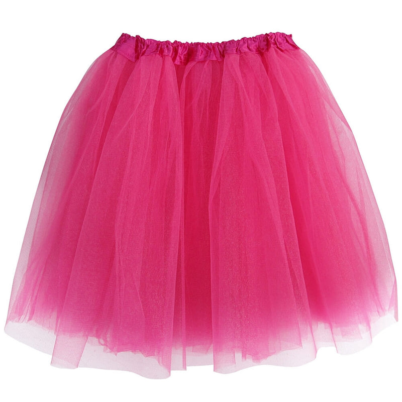 Hot Pink Adult Tutu Skirt - Women's Size 3- Layer Basic Ballet Tutu