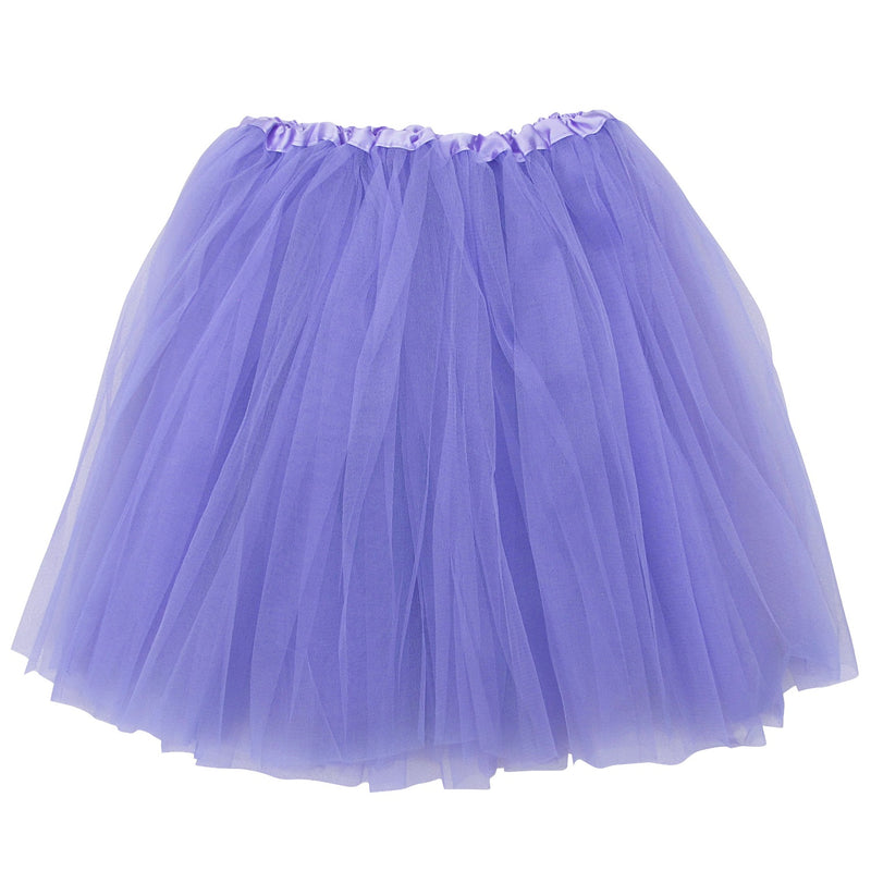lavender adult plus/extra plus size 3 layer polyester tulle tutu skirt ballet costume