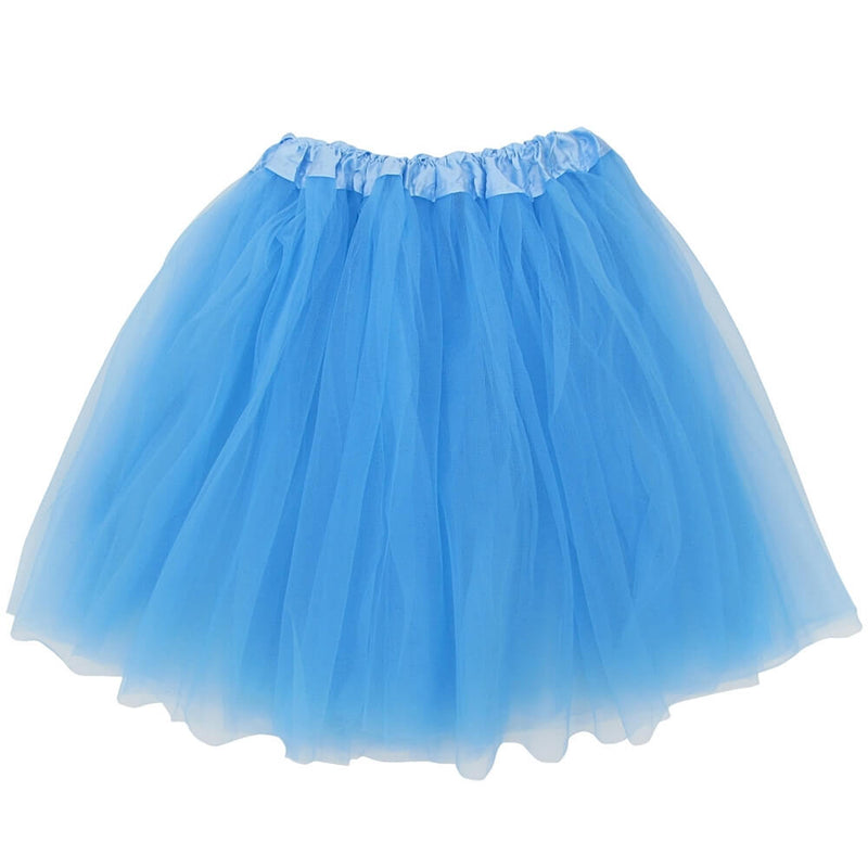 3bc700c8f Light Blue Adult Tutu Skirt - Women's Size 3- Layer Basic Ballet Tutu