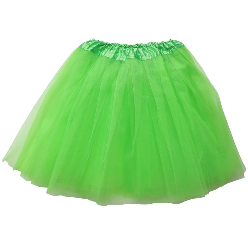 Lime Green Adult Tutu Skirt - Women's Size 3- Layer Basic Ballet Tutu