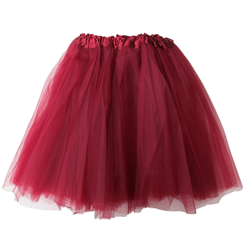 Burgundy Plus Size Adult Size 3-Layer Basic Ballet Tutu - Sydney So Sweet