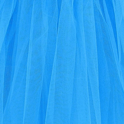 Neon Blue Adult Tutu Skirt - Women's Size 3- Layer Basic Ballet Tutu