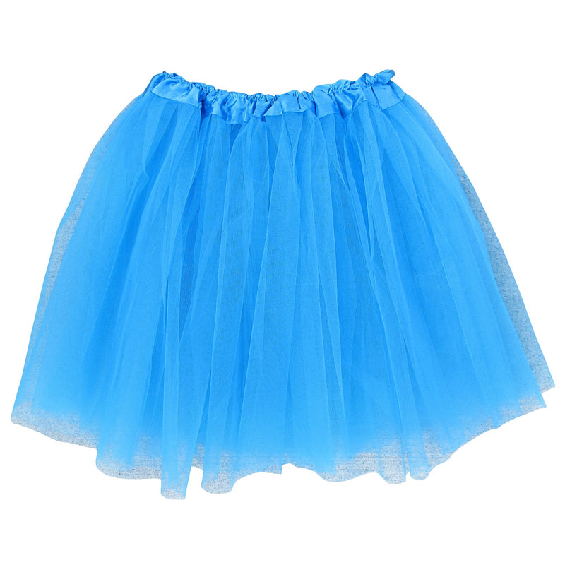neon blue adult plus/ extra plus size layer polyester tulle tutu skirt ballet costume
