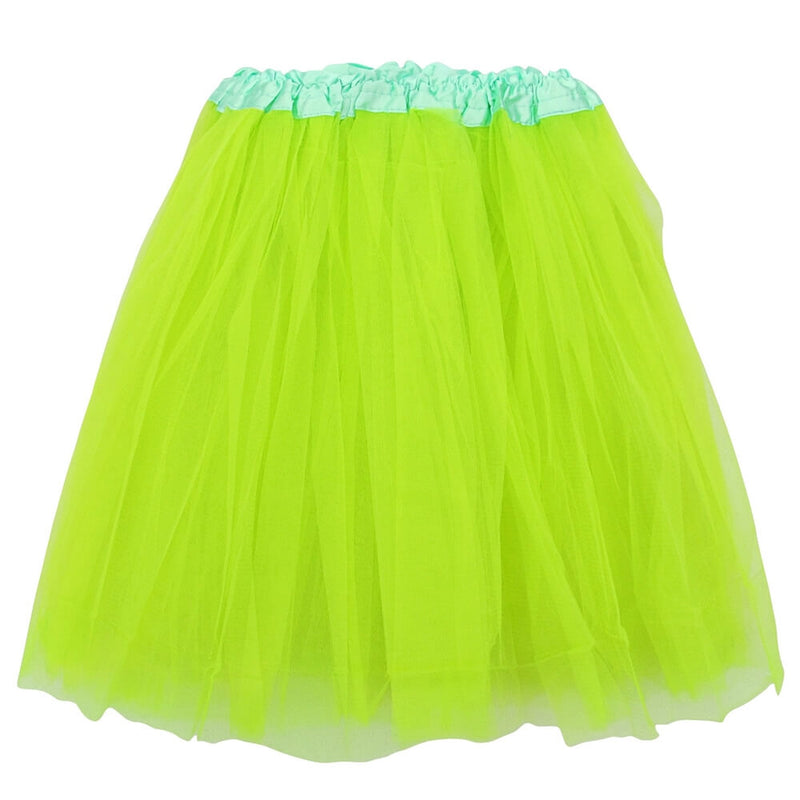 Neon Green Adult Tutu Skirt - Women's Size 3- Layer Basic Ballet Tutu - buy online, free shipping, Sydney So Sweet