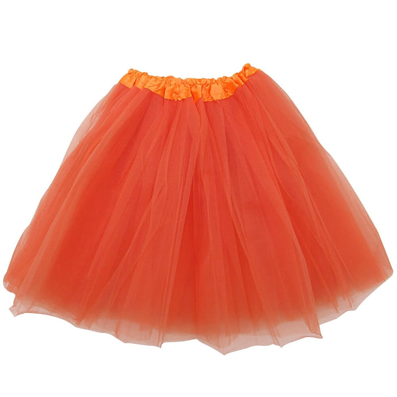 Orange Adult Tutu Skirt - Women's Size 3- Layer Basic Ballet Tutu