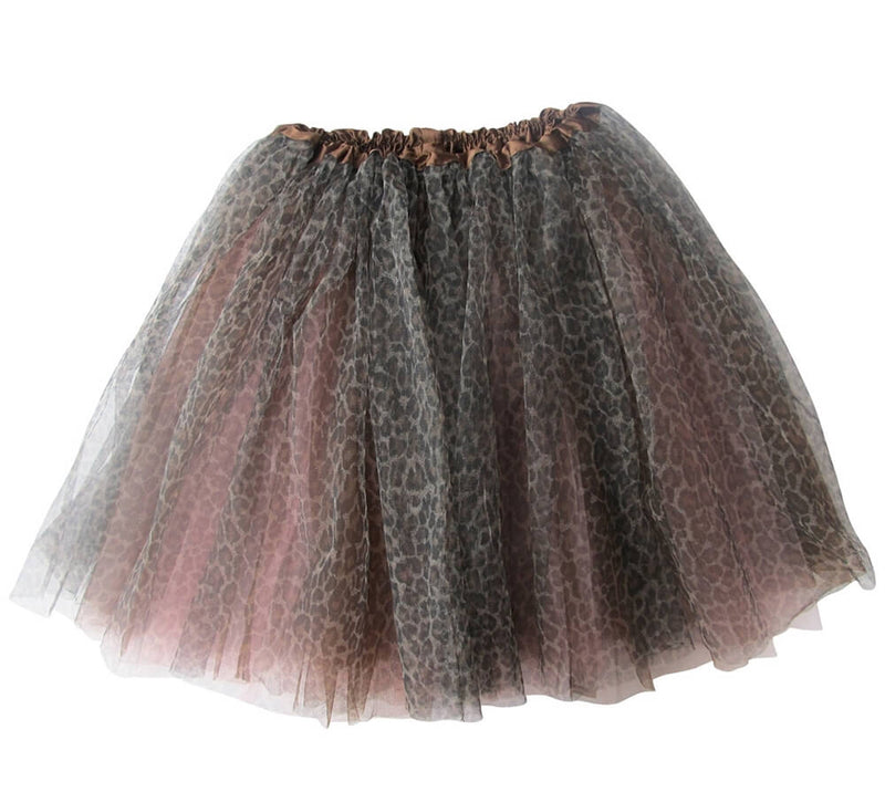 Cheetah Pink Girls Tutu Skirt - Kids Size 3- Layer Basic Ballet Tutu - Sydney So Sweet
