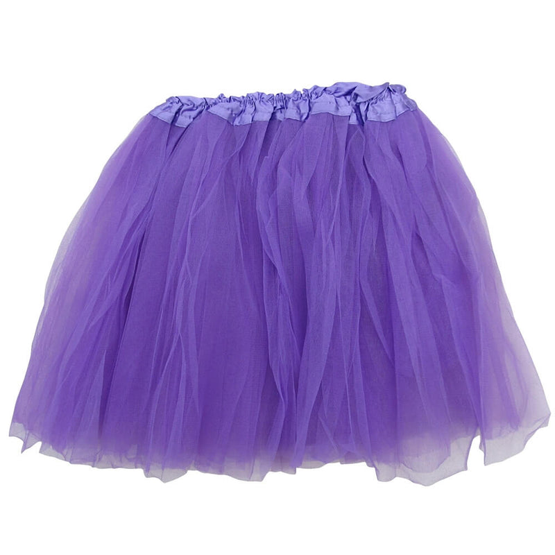 Purple Adult Tutu Skirt - Women's Size 3 Layer Basic Ballet Tutu
