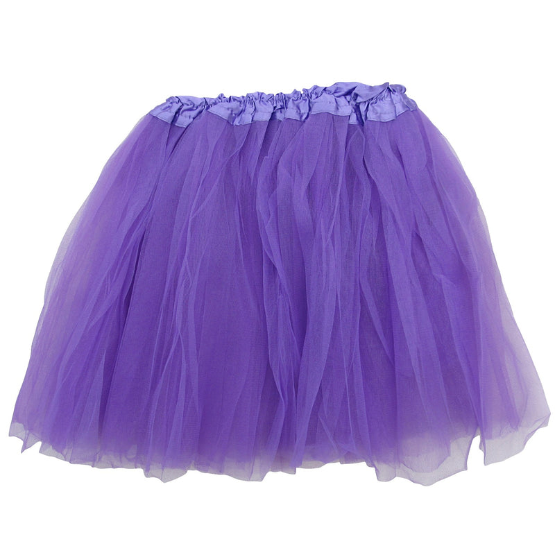 purple adult plus/ extra plus size layer polyester tulle tutu skirt ballet costume