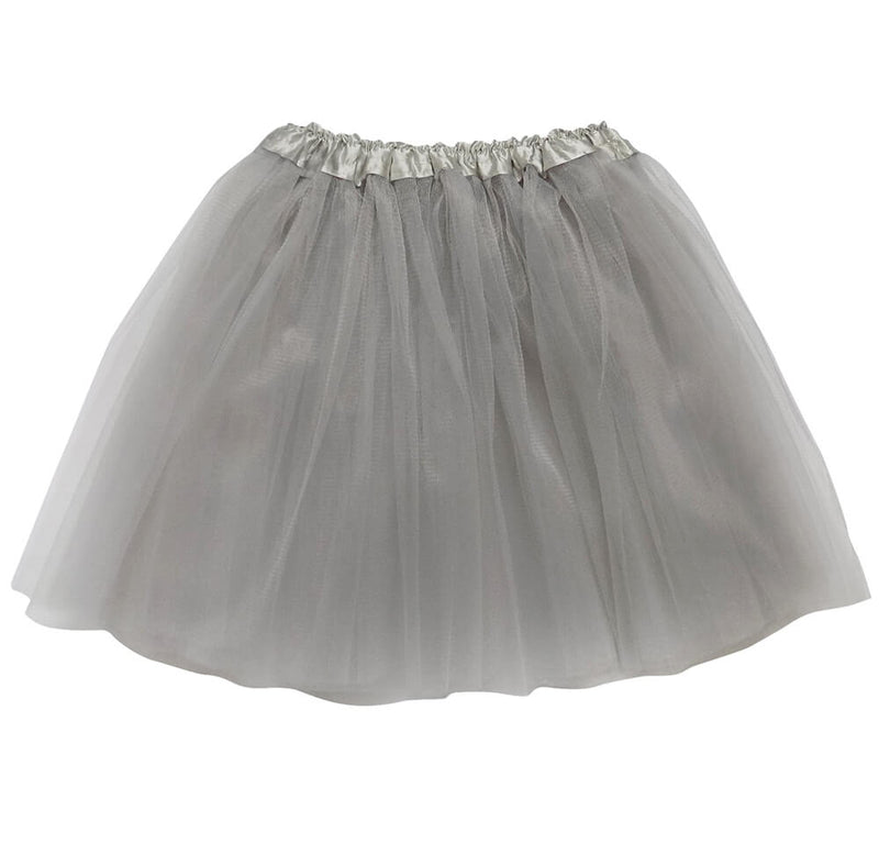 Silver Adult Tutu Skirt - Women's Size 3- Layer Basic Ballet Tutu