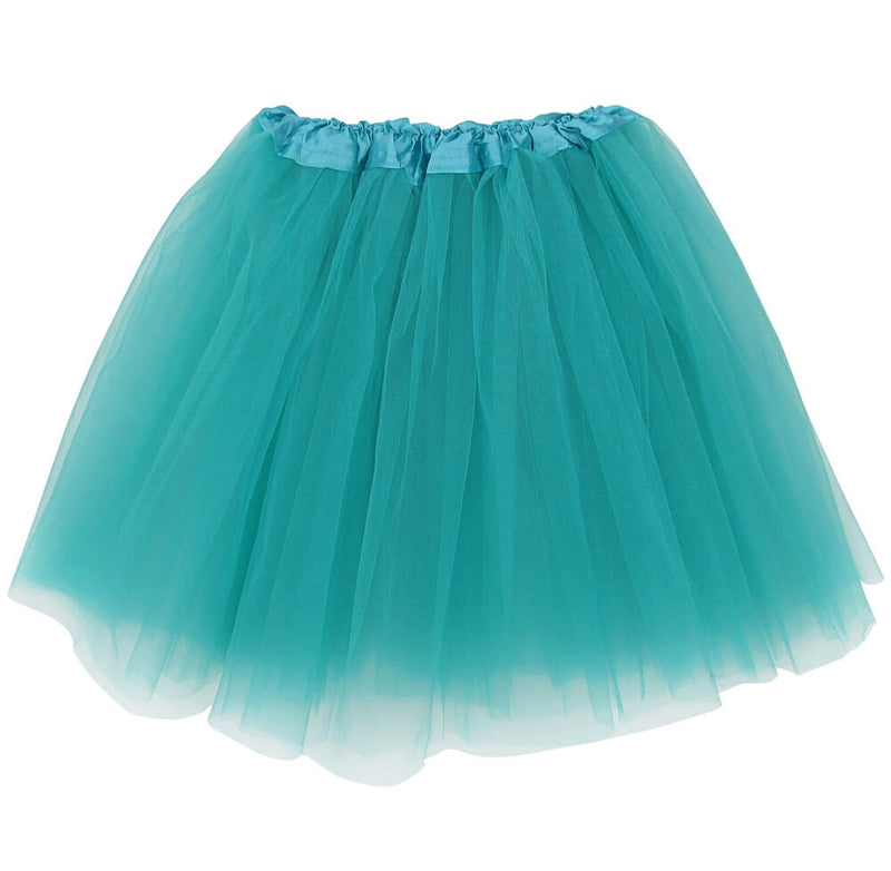 Turquoise Green Plus Size Adult Skirt - Women's Plus Size 3- Layer Basic Ballet