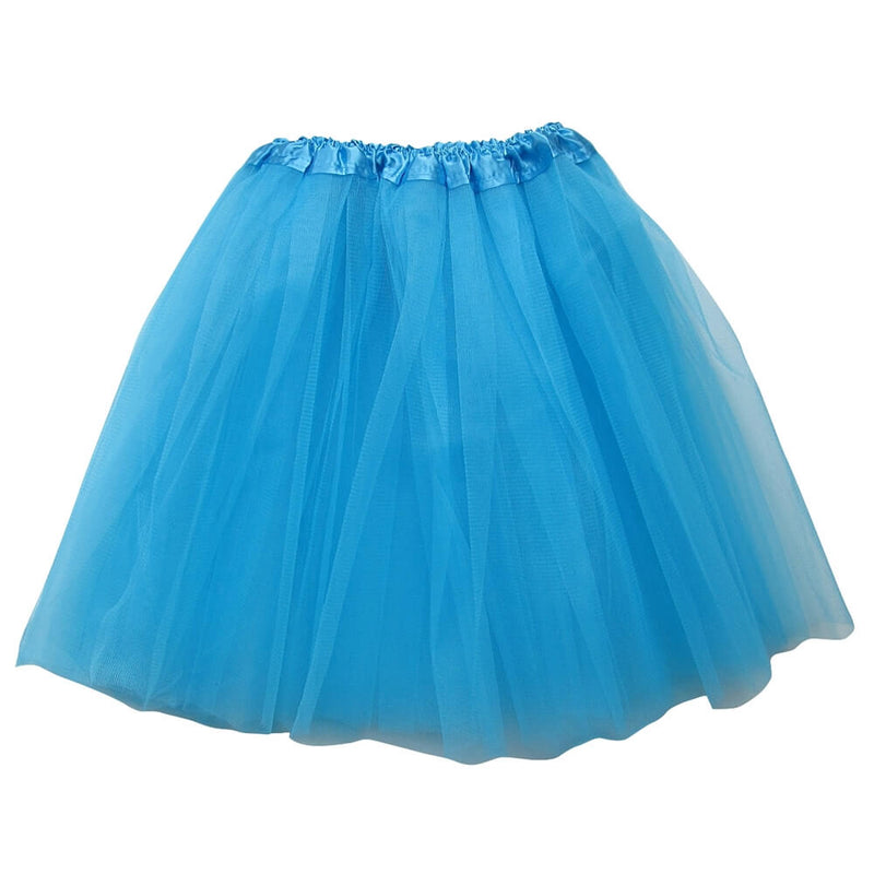 Turquoise Blue Adult Tutu Skirt - Women's Size 3- Layer Basic Ballet Tutu