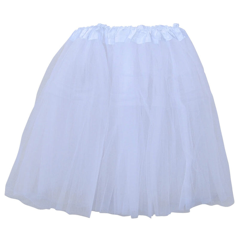 White Adult Tutu Skirt - Women's Size 3- Layer Basic Ballet Tutu