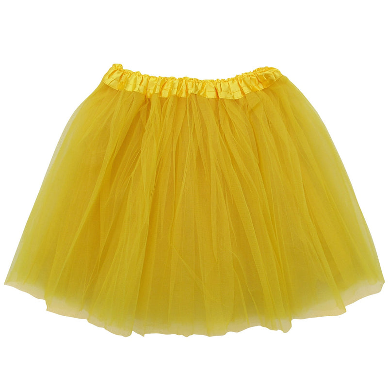 yellow adult plus/ extra plus size layer polyester tulle tutu skirt ballet costume